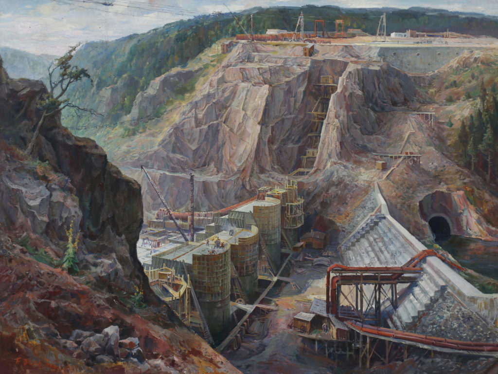 The Slapy Dam Construction